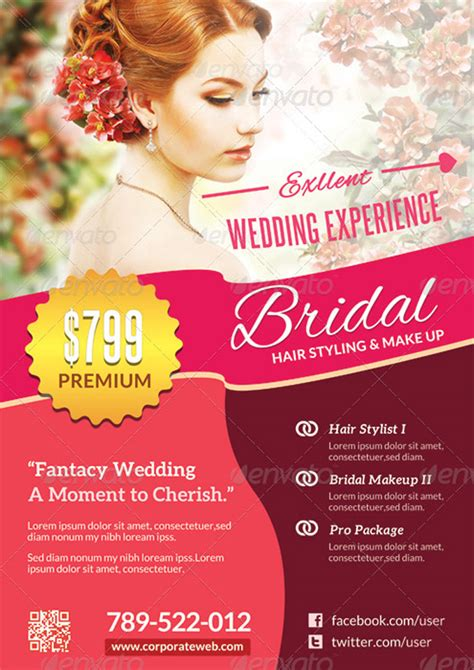 Wedding Hairstyles Brochure by 15 Incomparable Wedding Flyer Templates