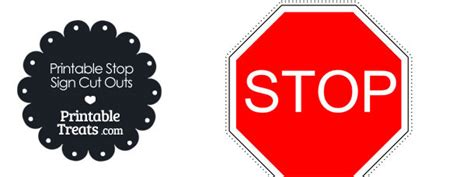 How To Make A Stop Sign Out Of Paper - printable stop sign cut out printable treats