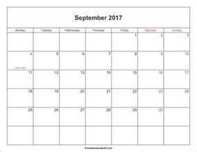 Free Pdf Calendar Template by September 2017 Calendar Pdf Calendar Printable Free