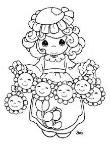 Precious Moments Spring Coloring Pages Sketch Page sketch template