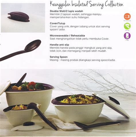Wadah Makanan Food Grade Amethyst Complete Serving Set insulated serving tupperware indonesia promo