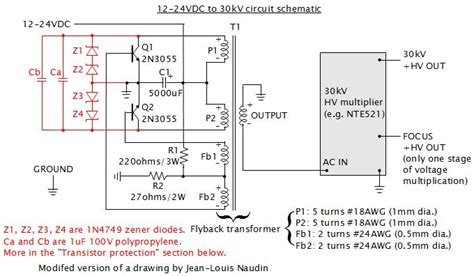 high c supply 30kv dc power supply homemade diy using flyback and