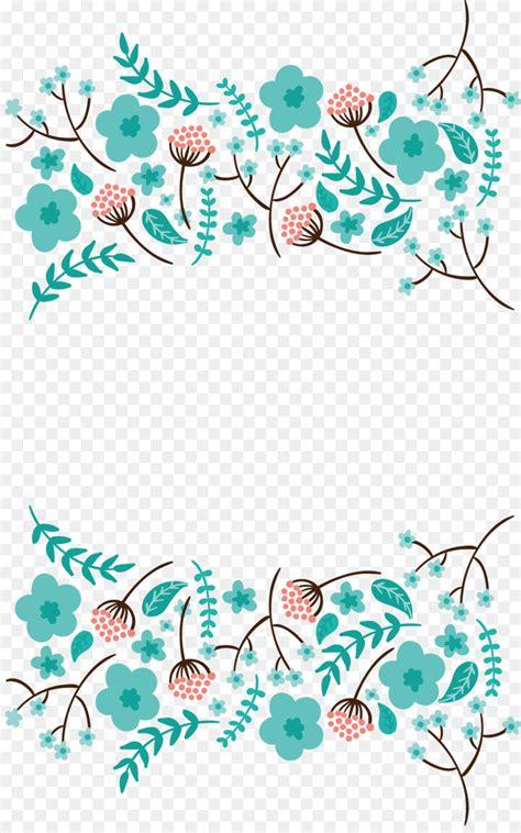 wedding invitation border designs aqua blue wedding invitation blue vector blue flowers border 988 1567 transprent png free