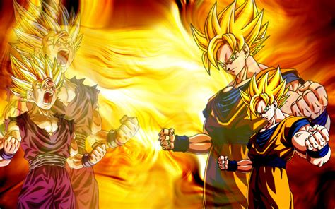 dragon ball z goku super saiyan wallpaper hd dbz wallpapers hd gohan wallpapersafari