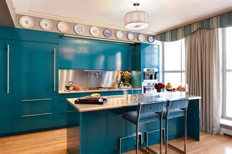blue kitchen design 26 eye catching blue kitchen designs page 2 of 5