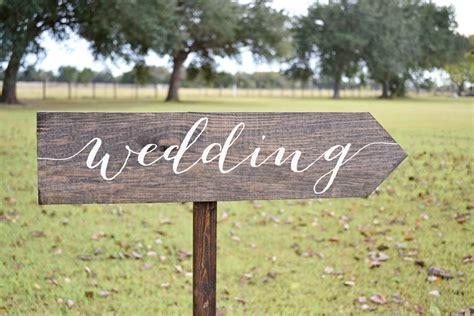 Wedding Signs by Wedding Signs Wood Wedding Arrow Sign Wooden Wedding Signs