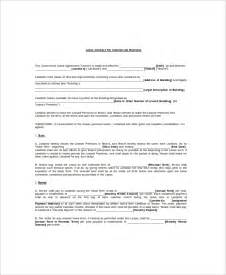 lease agreement word template 8 lease contract templates free sle exle format