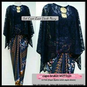 Setelan Kebaya Premium Cape setelan baju kebaya cape brukat dan rok lilit panjang motif batik model terbaru