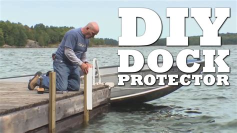 boat lift guide post bumpers diy dock protector youtube