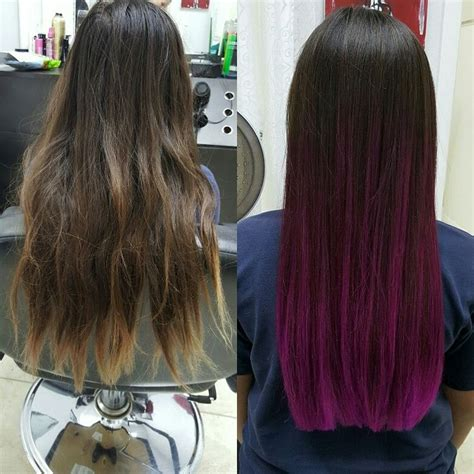 Mens Magenda Colored Hair | magenta ombre wild orchid ombre ocdiva1983 hair love