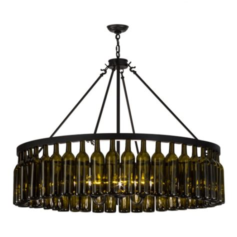 152072 Wine Bottle Chandelier Meyda Wine Country Accents Wine Bottle Chandeliers