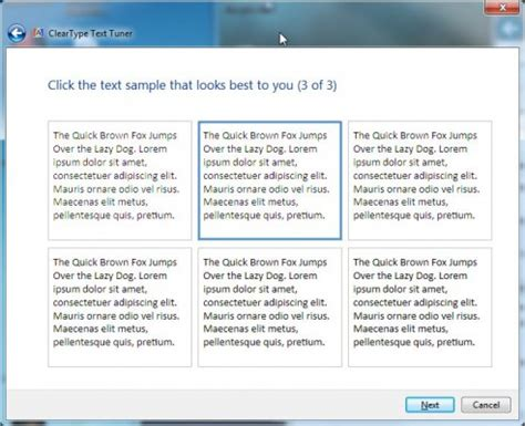 how to calibrate windows cleartype for sharper text