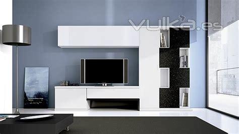 foto muebles de salon comedor moderno lun en color blanco
