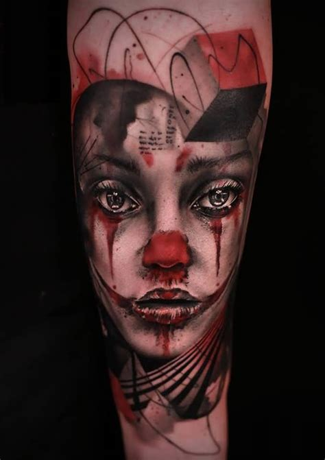 girl face tattoos creative design made on arm photos