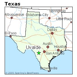uvalde texas map best places to live in uvalde texas