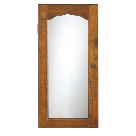wall jewelry armoire mirror home decorators collection provence wall mount jewelry