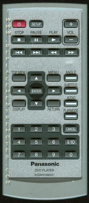 Remote Dvd Panasonic N2qahc000021 Original buy panasonic n2qahc000021 tv dvd combo remote