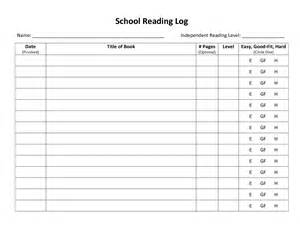 reading log template for middle school search results for weekly reading log template