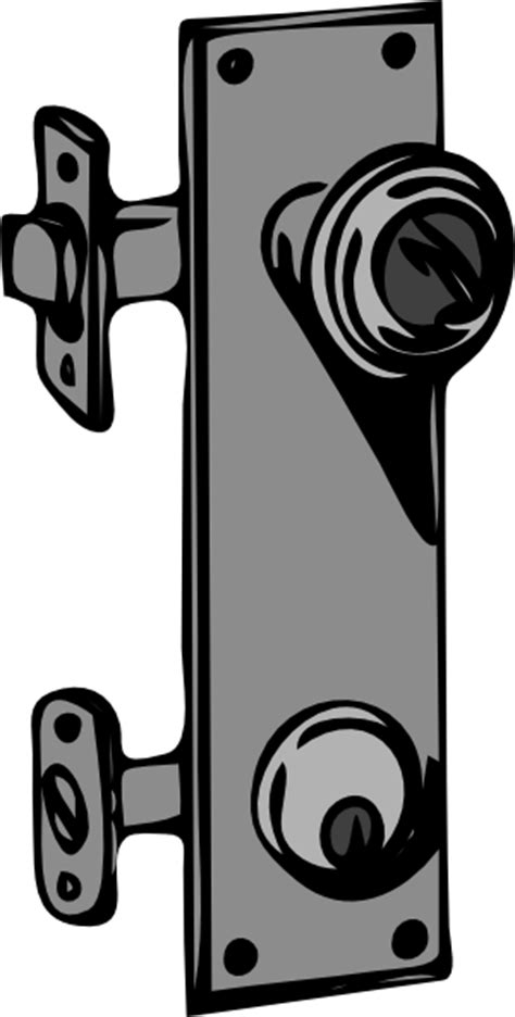 Door Knob Clipart by Door Knob And Lock Clip At Clker Vector Clip