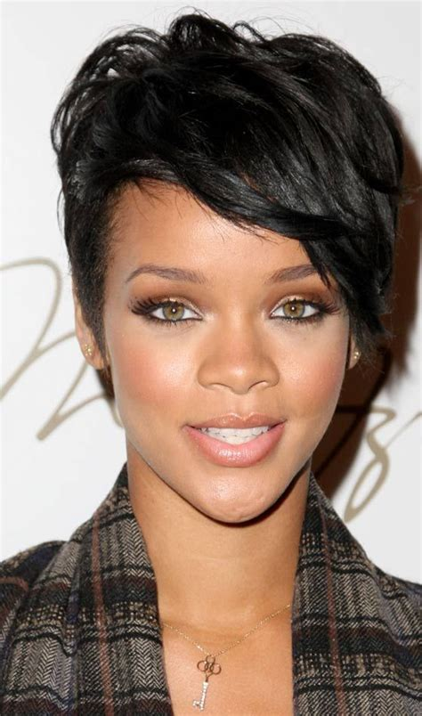 rihanna hairstyles bob haircut makes its debut on ellen todaycom best 25 short funky hairstyles ideas on pinterest short