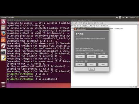 tutorial python in ubuntu install python 3 6 and idle pip on ubuntu 17 04