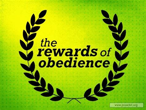 Sermon Outlines On Obedience by Sermon By Topic The Rewards Of Obedience