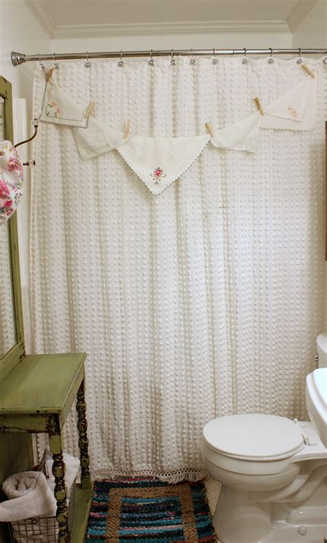 antique shower curtains shower curtain made from a bedspread daisymaebelle