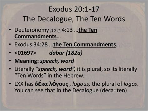 exodus  work   sabbath  decalogue  ten