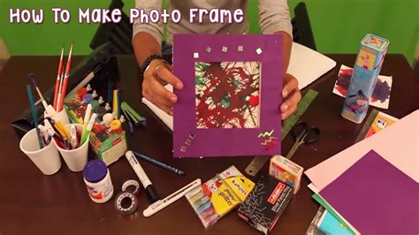 How To Make A School Paper - how to make photo frame