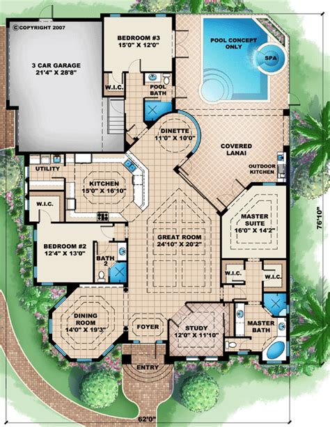 florida house plan florida mediterranean house plan 60512 mediterranean house plans and mediterranean