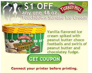 printable turkey hill ice cream coupons turkey hill coupon september 2013 1 00 off turkey hill