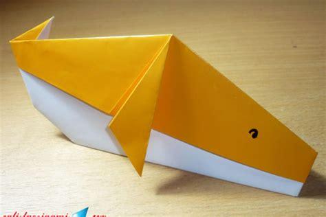 cara membuat origami ikan mudah cara membuat origami ikan paus origami binatang