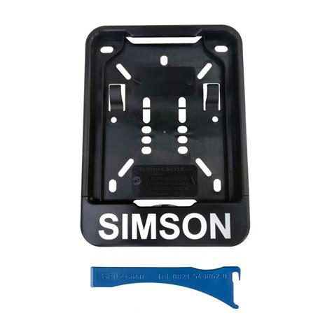 Kennzeichenhalter Aufkleber Entfernen by Simso Shop Wechsel Kennzeichenhalterung Schwarz
