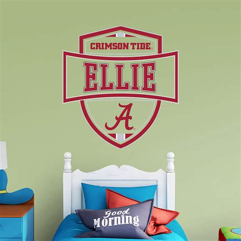alabama crimson tide personalized name wall decal shop