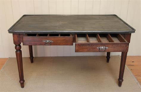 Zinc Top Dining Table Zinc Top Dining Table Antiques Atlas