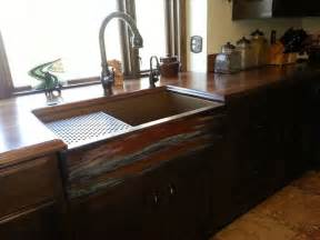 Rustic Kitchen Sink Copper Farmhouse Sink By Rachiele Rustic Kitchen Other Metro By Rachiele Llc