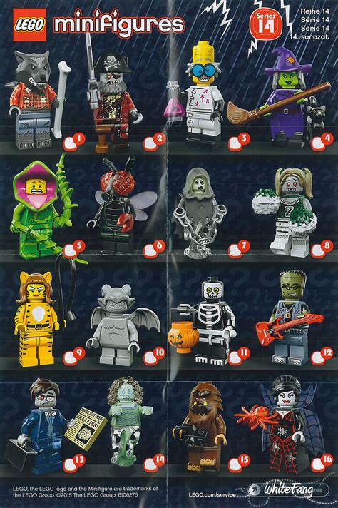 Lego Minifigure Seri 13 Complete Set Review 71010 Lego Collectable Minifigures Series 14