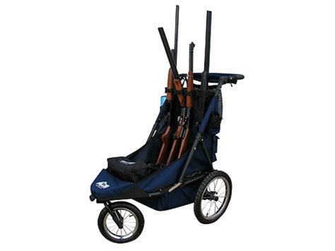 rugged gear cart rugged gear standard four gun shooting cart swivel front wheel blue
