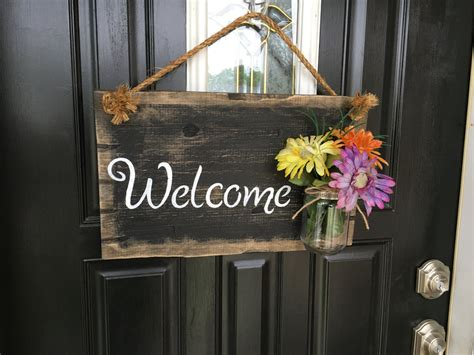 Welcome Signs For Door by Front Door Welcome Sign Front Porch Welcome Sign Rustic