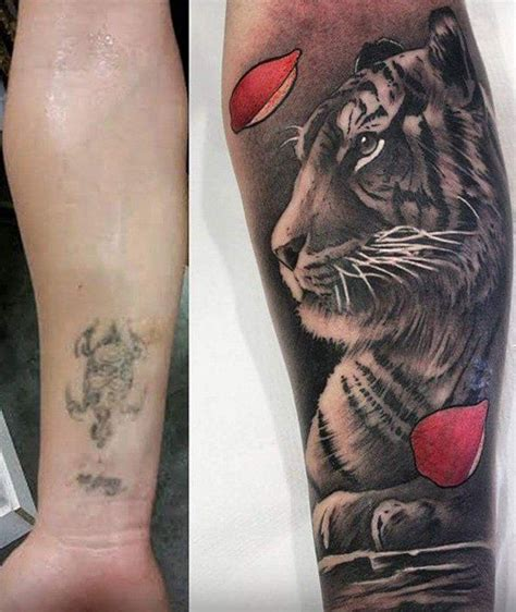 cat tattoo cover up 55 incredible cover up tattoos before and after tigers