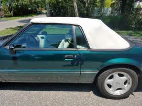 92 ford mustang lx 92 ford mustang lx 5 0 convertible green white top no rust