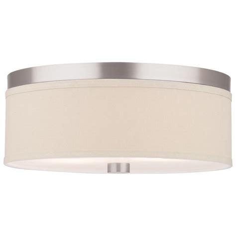satin nickel light fixtures philips embarcadero 2 light satin nickel ceiling fixture f131836 the home depot
