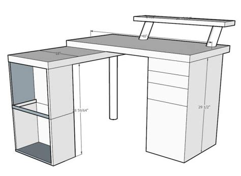 do it yourself desk l shaped corner desk w retractable desk top