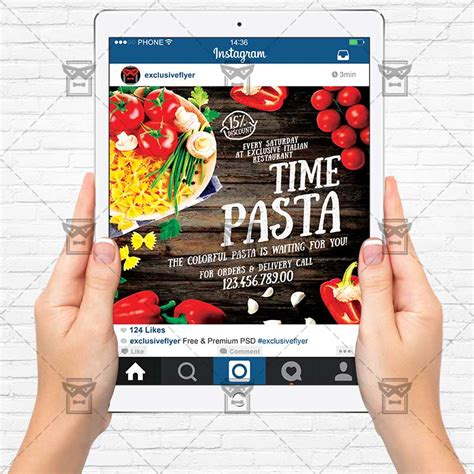 Pasta Time Premium Flyer Template Instagram Size Flyer Exclsiveflyer Free And Premium Instagram Flyer Template
