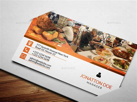 Catering Card Template by Restaurant Business Card Template 133 By Newdesigner1985