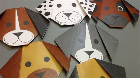 How To Make A Paper Puppy - free origami paper print your own dogs