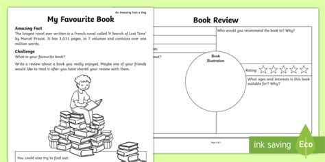 my pattern designer review my favourite book worksheet activity sheet amazing fact of