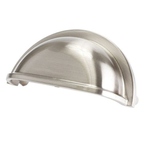 brushed nickel cabinet knobs and pulls cabinet hardware drawer cup pulls 9387 brushed nickel 3 c
