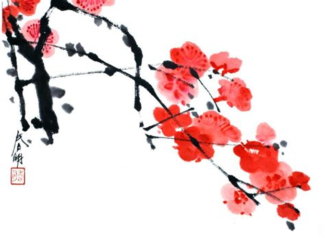 102 best sumi e plum blossom images on pinterest