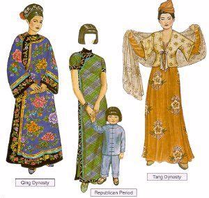 chinese dressing styles in the recent dynasties chinese